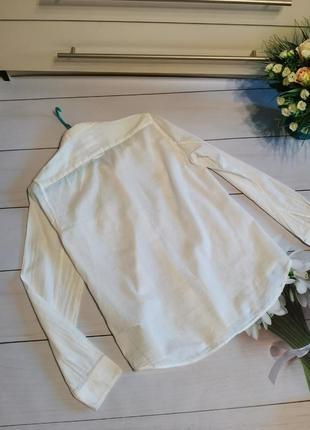 Белая рубашка свободный фасон размер м gap2 фото