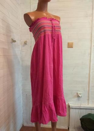 Летнее корсетное платье из хлопка
