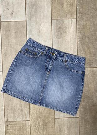 Джинсовая мини юбка,короткая юбка