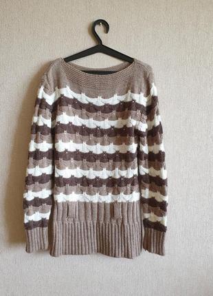 Вязаный свитер-туника