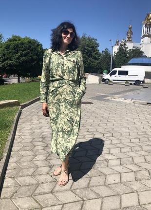 Сукня сафарі zara