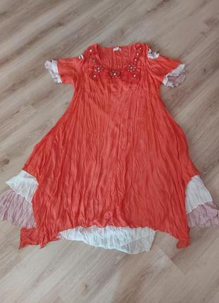 Крутое платье батального размера  58-62 турция