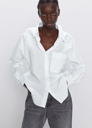 Белоснежная рубашка свободный фасон размер м new look