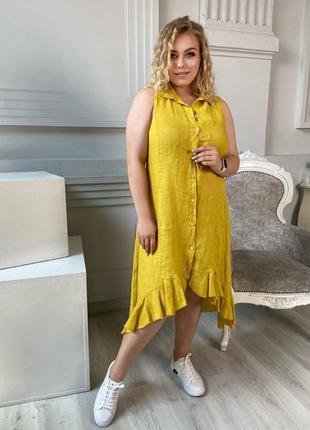 Платье лён оверсайз италия