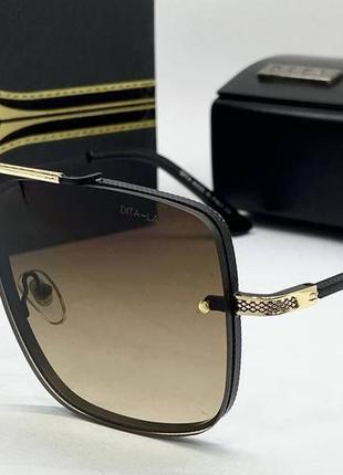 Dita очки женские солнцезащитные коричневая маска-авиатор