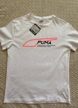 Белая футболка puma новая
