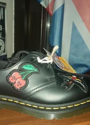 Туфлі dr.martens 1461 patch original black smooth