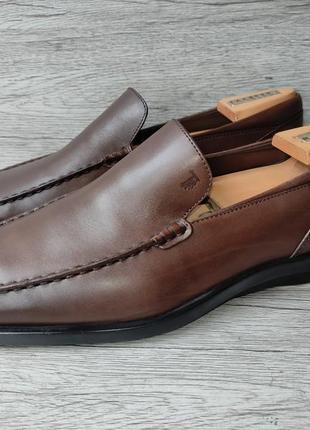 Tod's 43-43.5p туфли мужские лоферы кожа италия