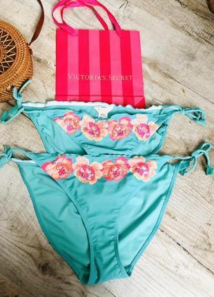 Яркие плавки низ купальника модные завязки трендовые accessorise стильные