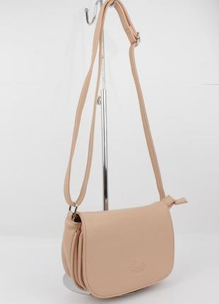 Маленькая сумочка через плечо amelie galanti 25578 пудра