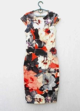 Хлопковое платье миди в цветочный принт 🌿