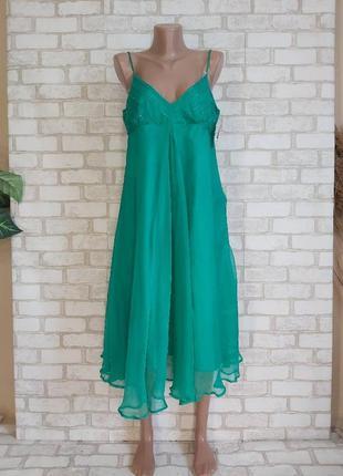 Фирменное atmosphere платье/сарафан со 100 % шелка в трендовом зелёном, размер 3хл