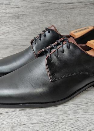 Varese 43p туфли мужские кожаные италия