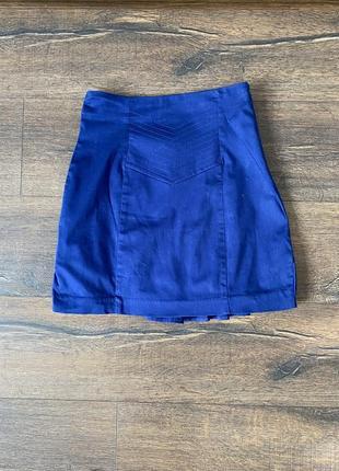 Хлопковая юбка с рюшами