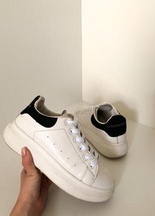 Белые женские кроссовки кеды криперы на платформе толстой подошве