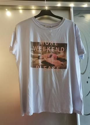 Нежноголубая футболка 52_54 рр