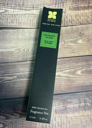 Парфюмированная ручка духи оригинал fragrance pen fragrance du bois oud vert intense pure oud