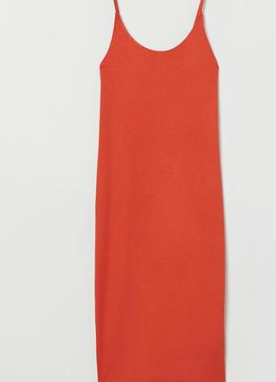 H&m платье в рубчик
