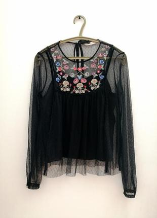 Блуза в стиле vintage, zara