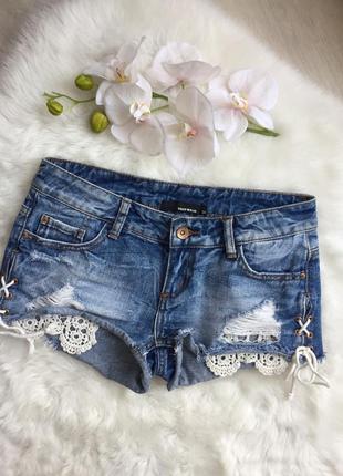 Розпродаж!!! джинсові шорти короткі з завязками