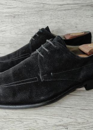 Moreschi 42.5p туфли мужские замша италия