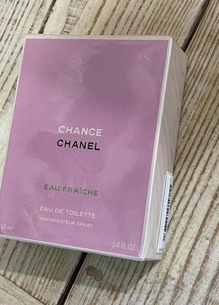 Туалетная вода chanel chance eau fraiche
