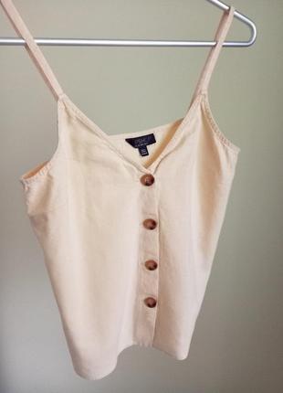 Топ із льону, лляний, блуза на бретельках, сорочка//ленной топ, льняная рубашка