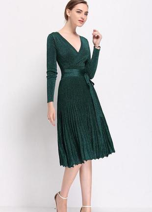 Платье вечернее миди с люрексовой нитью!