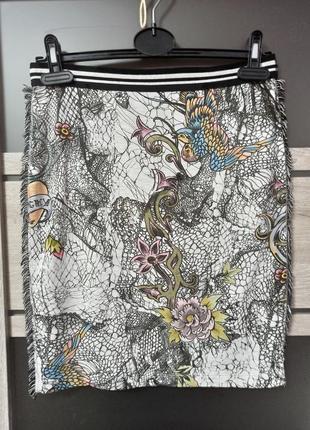 Роскошная трикотажная юбка карандаш, подклад р. n - 1 /s, наш 42, от marc cain.