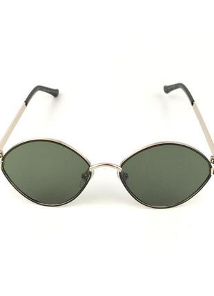 Солнцезащитные очки овальной формы «bonny» с золотой металлической оправой