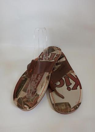 Kickers мужские вьетнамки .брендовая обувь stock