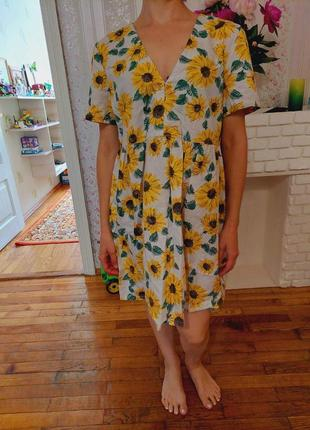 Яркое платье туника свободного кроя