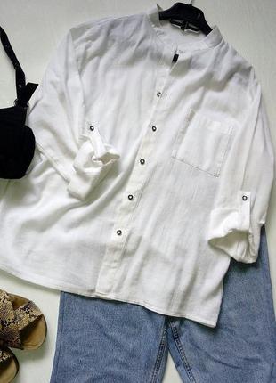 Белая вискозная рубашка