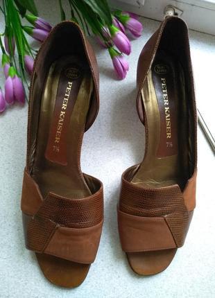 Кожа кожаные летние  туфли открытый носок