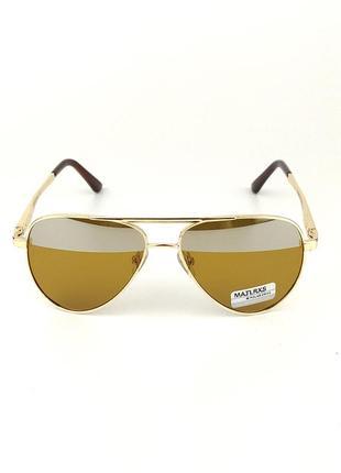 Солнцезащитные очки-авиаторы «burn» с золотой металлической оправой