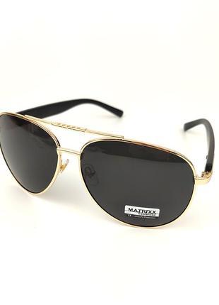 Солнцезащитные очки-авиаторы «classic» в золотой оправе с черной линзой