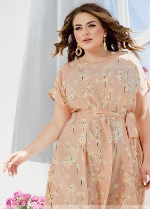 Платье-сарафан на лето большой размер 50-52, 54-56, 58-60, 62-64, 66-68 (2248)