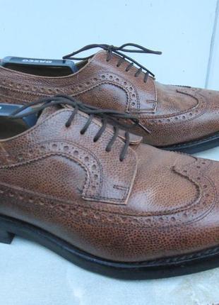 """Кожаные туфли броги  """" samuel windsor """"  43р. (28,75см). англия."""