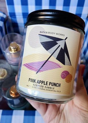 Свеча на 1 фитиль pink apple punch от bath and body works