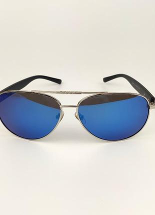 Солнцезащитные очки-авиаторы «newyork» c серебристой металлической оправой