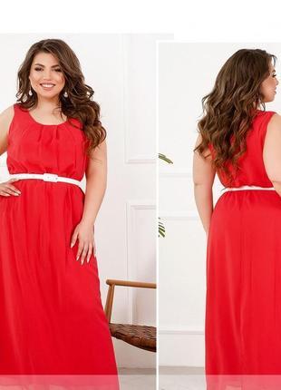 Летнее платье-сарафан шифон размер 52-54 (15-18)