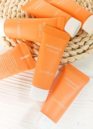 Крем для сияния кожи laneige radian-c cream 7 ml