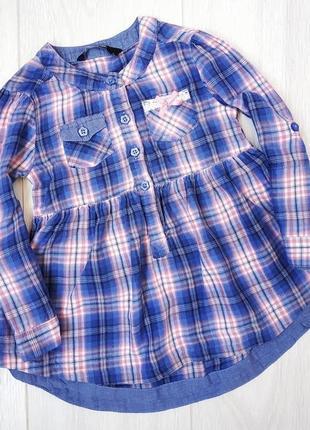 Рубашка туника клетка