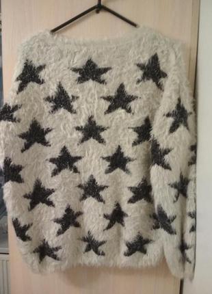 Кофта-травка со звездами свитшот  свитер джемпер