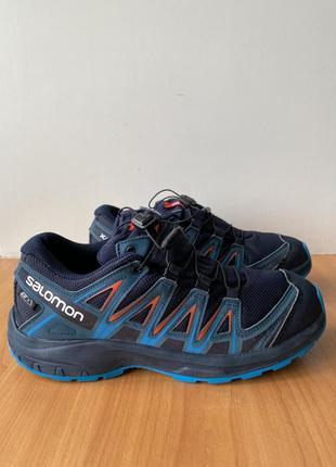 Треккинговые кроссовки salomon, оригинал, спортивные, женские, размер 39, синие, сетка, летние, новые
