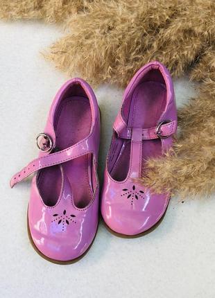 Розовые туфли лак некст next