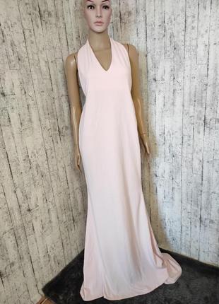 Бледно-розовое платье макси/в пол1 фото