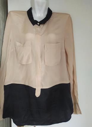 Блуза шёлковая двухцветная ,inwear,16(48)