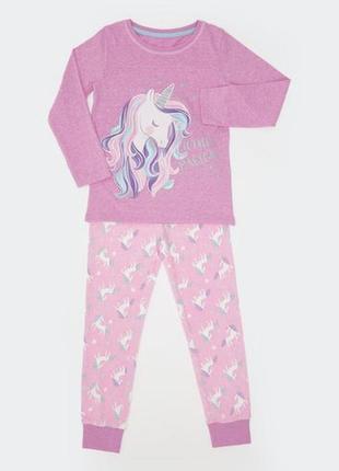 7-8 лет классная пижамка из хлопка джерси из англии