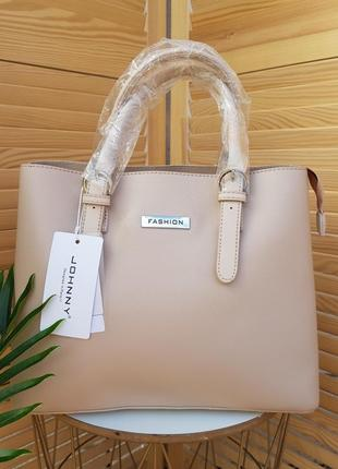 Стильная лёгкая женская сумка в стиле шоппер